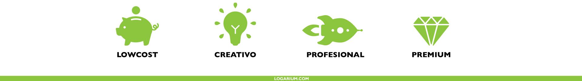 En logarium hacemos Logos Lowcost, creativos, profesionales y premium